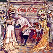 Coca - Cola Vintage Poster Art Print