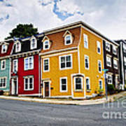 Colorful Houses In St. John's Newfoundland Art Print