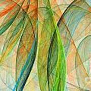 Colorful Silk Scarf Art Print