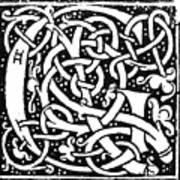Decorative Initial G Art Print