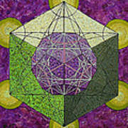 Dodecahedron In A Metatron's Cube Art Print
