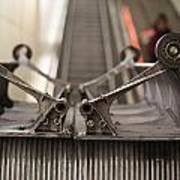 Escalator Construction Works Art Print