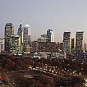 High Angle View Of A City Art Print