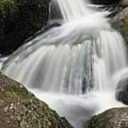 Landscape Of Becky Falls Waterfall In Dartmoor National Park Eng Art Print
