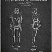 Manikin For Teaching Obstetrics And Midwifery Patent From 1951 - Art Print