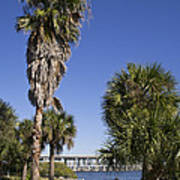 Melbourne Causeway To Indialantic In Central Florida From Geiger Art Print
