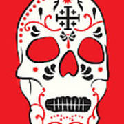Mexican Sugar Skull For Dia De Los Muertos Art Print