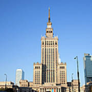 Palace Of Culture And Science In Warsaw Art Print by Artur Bogacki