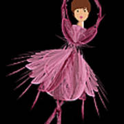 6 Pink Ballerina Art Print