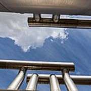 Pipes At Nesjavellir Geothermal Power Art Print