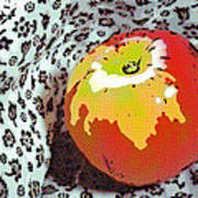 Red And Yellow Apple Art Print