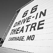 Route 66 Drive-in Theatre Art Print by Frank Romeo