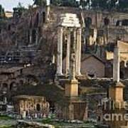 Ruins In The Roman Forum Rome Italy Art Print