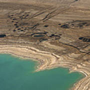 Sinkholes In Northern Dead Sea Area Print by Ofir Ben Tov