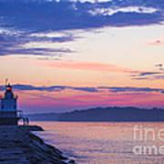 Sunrise At Spring Point Lighthouse Art Print