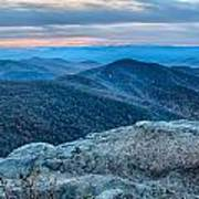 Sunset View Over Blue Ridge Mountains Art Print