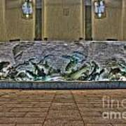 The Fountain At Founders Hall Art Print