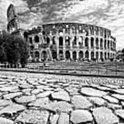 The Majestic Coliseum - Rome Art Print by Luciano Mortula