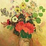 Vase Of Flowers Art Print by Odilon Redon