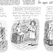 Recommended Tests For Ages 21+ Art Print