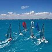 Miami Sail Week Art Print