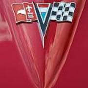 63 Corvette Emblem Art Print