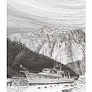 Desolation Sound Quiet Anchorage     Art Print