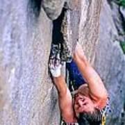 Rock Climber Art Print