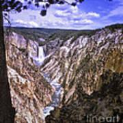661 Sl Yellowstone Canyon  Art Print