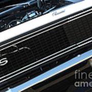 67 Black Camaro Ss Grill-8039-2 Art Print