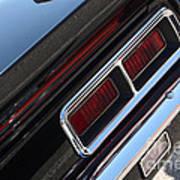 67 Black Camaro Ss Tail Light-8020 Art Print