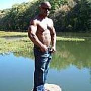 Male Muscle Art Art Print