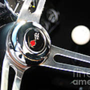 67 Malibu Chevelle Steering Wheel-0055 Art Print