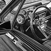67 Mustang Interior Art Print