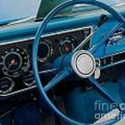 68 Chevy Truck Dash Art Print