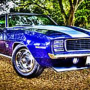 69 Chevrolet Camaro - Hdr Print by motography aka Phil Clark