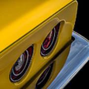 '69 Corvette Tail Lights Art Print