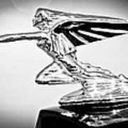 1935 Packard Hood Ornament -0295bw Art Print
