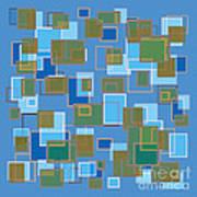 Blue Abstract Art Print by Frank Tschakert