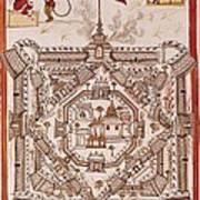 Book Of The Moghul. Ms. 8300. 17th C Art Print