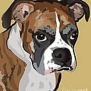 Boxer Dog Portrait Art Print by Robyn Saunders