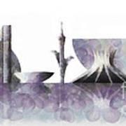 Brasilia Skyline Art Print