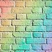 Brick Wall Art Print