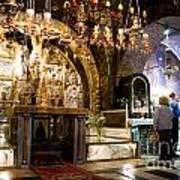 Church Of The Holy Sepulchre In Jerusalem Art Print