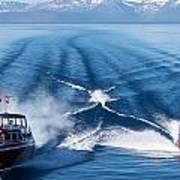 Lake Tahoe Wooden Boats Art Print