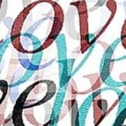 Love Art Print by Moshfegh Rakhsha