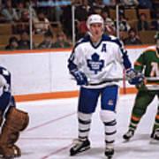 Minnesota North Stars v Toronto Maple Leafs Art Print