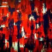 Modern Abstract Painting Original Canvas Art Shadow People By Zee Clark Art Print