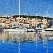 Mytilini Port Art Print