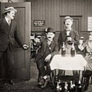 Silent Film Still: Drinking Art Print